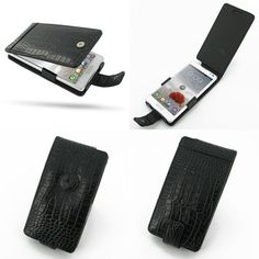 PDair Leather Case for LG Optimus L9 P760 P765 P768 - Flip Type (Black/Crocodile Pattern)
