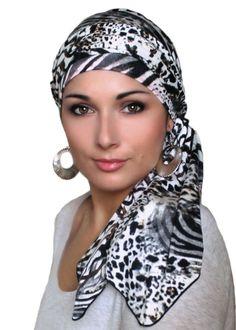 Turban Diva Safari Animal Print Turban Hat and Scarf Set, Head Wrap, Alopecia Head Scarf, Chemo Hat, Head Scarf Styles, African Head Wraps, Hat And Scarf Sets, Mode Hijab, Bad Hair Day, Scarf Hairstyles, Swagg, Natural Hair Styles, Turban Hat