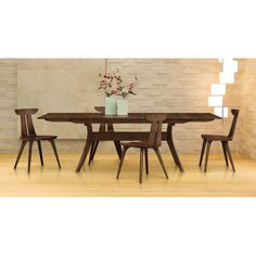 """Copeland Furniture Audrey 72"""" - 96"""" Extension Dining Table"""