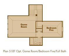 Optional Game Room and Bedroom Five with Full Bath New Home Plan Highland Homes 518T in St. Paul, TX 75098