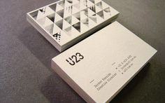 U23  Posted: 1:50 am Sunday, May 29, 2011 in: Business Card, Duplex/Triplex, Letterpress        U23 Business cards Offset printed on 1 side, Letterpress text printed on the other side on Concept Candlelight 271gsm then triplexed with Optix Jet black 300gsm inserted.  Designed by U23.