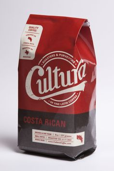 Cultura coffee packaging by Levi Huddleston #packaging #design