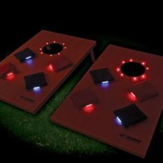 Light up bean bag toss! Imagine the possibilities- camping, tailgating, beach parties.. the fun will keep going as long as you do!