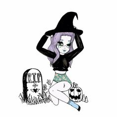 Witch in the graveyard // Valfre
