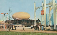 IBM and Coca-Cola Pavilions -  New York Worlds Fair 1964-65 by The Pie Shops Collection, via Flickr