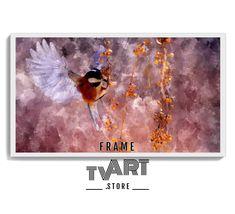 Samsung frame tv art Digital Download 4K Frame Tv Art Painting Flying Bird Digital Art #samsungframetvart #samsungframetv #frametv #samsungtvframe Art Pictures, Art Images, Above Fireplace Ideas, Frame Tv, Art Store, Framed Art, Samsung, Digital, Artwork