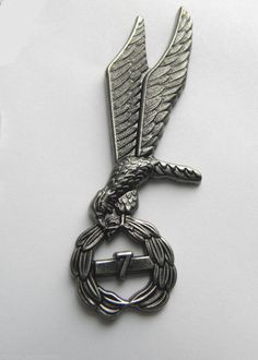 POLAND PARATROOPER POLISH LARGE JUMP WINGS LAPEL PIN BADGE 3 INCHES