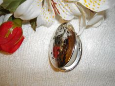 Vintage Sterling Silver Ornate Locket Pendant by JustRandomStuff,