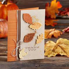 Fall Thank You Card | Fun Stampers Journey | Give Thanks Stamp Set SS-0041