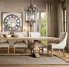| Copy Cat Chic | chic for cheap: Restoration Hardware Salvaged Trestle Dining Table