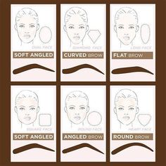 How to shape your eyebrows for your shape of your face? - N / How to shape your eyebrows for your shape of your face? Eyebrow Makeup Tips, Permanent Makeup Eyebrows, Eye Brows, Eyeliner, Makeup Eyes, Makeup Wings, Hair Makeup, Eyebrow Grooming, Diamond Face Shape