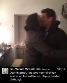 Lin-Manuel Miranda and Jonathan Groff