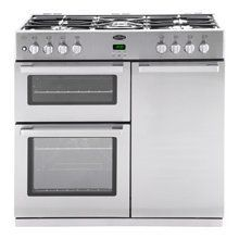 Belling DB4 90DFT Professional 90cm wide Dual Fuel Range Cooker - Stainless Steel
