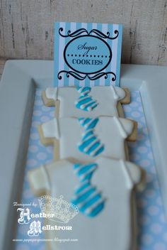 Paper Princess Studio: Lil' Man Baby Shower sugar cookies