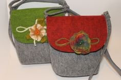 energrtyczne torebki filcowe hand made