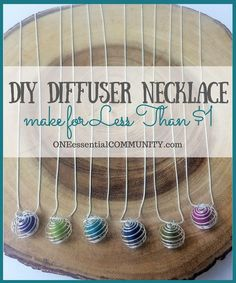 Make your own essential oil diffuser necklace for less than $1 each and in less than 1 minute.   See here for my DIY accessories collection http://www.sewinlove.com.au/category/fashion/accessories-fashion/