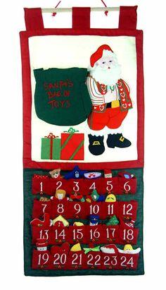 NEW Rosalina Appliqued Advent Calender with Santa and Toy Bag $35.00 #AdventCalendar