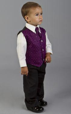 Baby Boys Cadburys Purple Wedding Pageboy Communion Suit Age 0 Months 14 Years | eBay