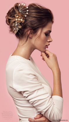 olivia headpieces 2017 bridal accessories born to be wild hair pin comb set -- Olivia Headpieces 2017 Bridal Accessories Collection #wedding #bridal #weddingdress