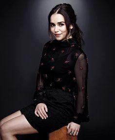 Emilia Clarke in the dark.