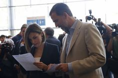 Queen Letizia of Spain and King Felipe VI of Spain attend the 'Forum Impulsa' at the Auditori of Girona on June 26, 2015 in Girona, Spain.