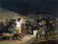 The third of May 1808 (execution of the defenders of Madrid), 1814 //  Francisco Goya, Spanish (1746 - 1828)  FS
