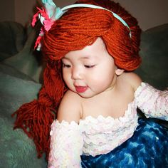 Ariel - Yarn Wig - The Little Mermaid - Disney - Halloween 2013