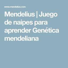 Mendelius | Juego de naipes para aprender Genética mendeliana
