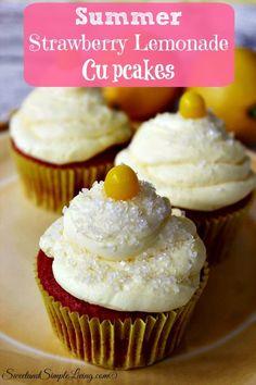 Summer Strawberry Lemonade Cupcakes Recipe!