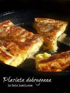 Placinta dobrogeana la tigaie (Dobrogea pie in a pan)-Mala's recipe My Favorite Food, Favorite Recipes, European Dishes, Good Food, Yummy Food, Romanian Food, Pastry And Bakery, Miniature Food, Recipes