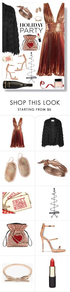 """Holiday Party"" by ms-wednesday-addams ❤ liked on Polyvore featuring Maria Lucia Hohan, Kendra Scott, Accessorize, Improvements, Les Petits Joueurs, Giuseppe Zanotti, Kate Spade, Mimco and Givenchy"