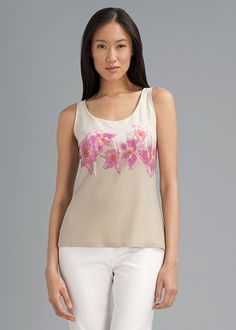 Flower Printed Opulent Cotton Tank