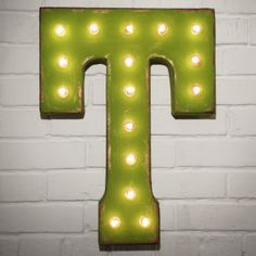 Custom 21 Green Letter T Vintage Marquee Signs