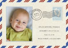 Mixbook Special Delivery Boys Birth Announcements