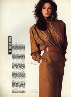 U.S Vogue 1985 Fashion Magazine