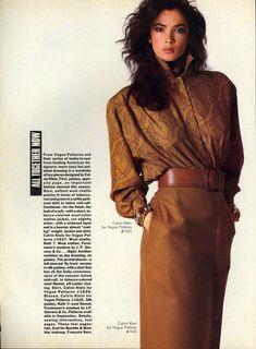 U.S Vogue 1985 Fashion Magazine