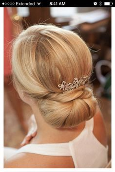 Classic!! beautiful - I like the French Chignon for the bridesmaids hair :)