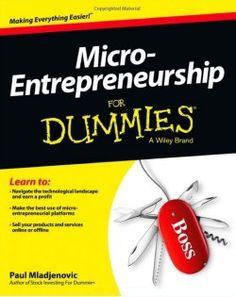 Micro entrepreneurship for dummies.