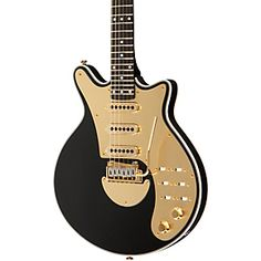 The Brian May Signature Electric Guitar features an acoustically chambered mahogany body, a dual truss rod mahogany neck, and ebony fingerboard.