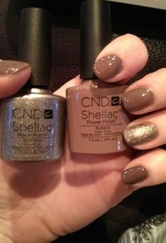 CND shellac rubble with CND shellac steel gaze feature, perfect combination