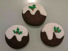 My Chocolate shortbread Christmas pudding cookies