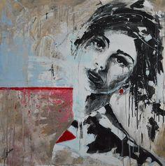 painting by Tomasz Machoń art woman face girl acrylic Portrait Art, Woman Face, Female Art, Deviantart, Painting, Women, Woman Art, Painting Art, Female Faces
