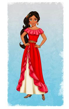 Here's a look at Disney's first Latina princess. Hi Elena! She will have her own show on Disney Jr in 2016!