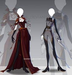 [CLOSED-Auction] Adoptable outfit by Eggperon on DeviantArt Anime Outfits, Cool Outfits, Casual Outfits, Dress Drawing, Drawing Clothes, Dress Sketches, Fashion Sketches, Fantasy Dress, Fantasy Outfits