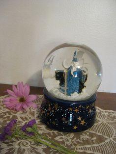 Zodiac Snow Globe wizard San Francisco Music Box by FinchesFinds