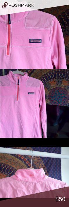 Barbie pink Vineyard vines shepshirt Barbie pink vineyard vines shep shirt. Worn once. Very cute but just not my style anymore! Vineyard Vines Tops Sweatshirts & Hoodies