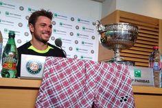 Stan Wawrinka s'est présenté en conférence de presse avec son short très critiqué pendant le tournoi.