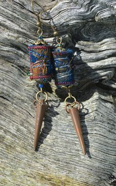 BOHO TRIBAL EARRINGS festival jewellery by ChrisHearnDesigns