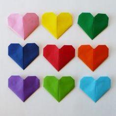 origamihjerte fremgangsmåte  diy origami heart Origami Heart, Diy Origami, Logos, Origami Hearts, Logo