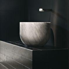 Lavabo da appoggio / rotondo / in marmo / in pietra naturale - CIOTOLA by Marco W. Fagioli ed Emanuel Gargano - Vaselli Marmi